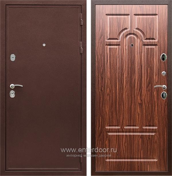 Входная металлическая дверь Армада 5А (Медный антик / Берёза морёная)