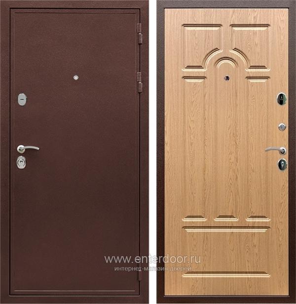 Входная металлическая дверь Армада 5А (Медный антик / Дуб натуральный)