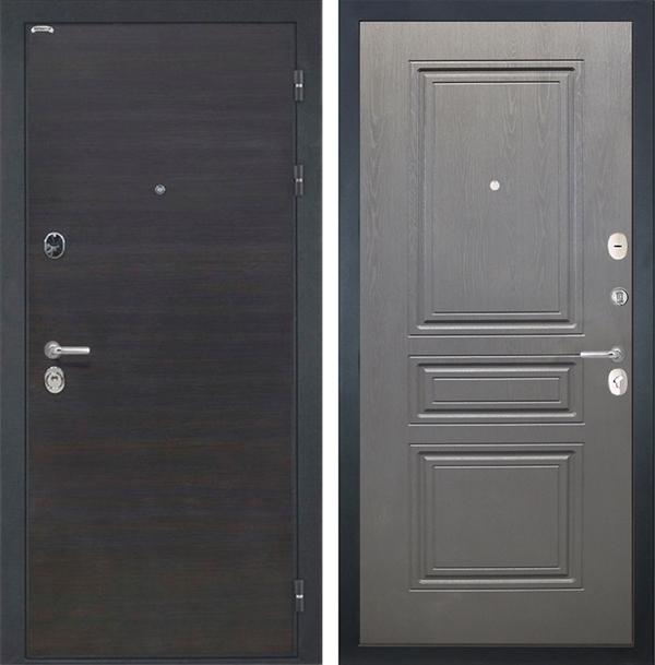 Входная металлическая дверь Интекрон Сицилия ФЛ-243 (ЭкоВенге / Дуб вуд графит)