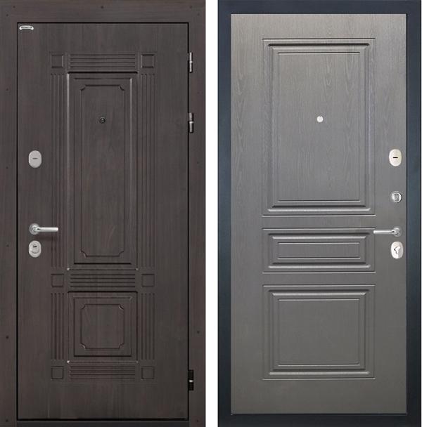 Входная металлическая дверь Интекрон Италия ФЛ-243 (Венге / Дуб вуд графит)