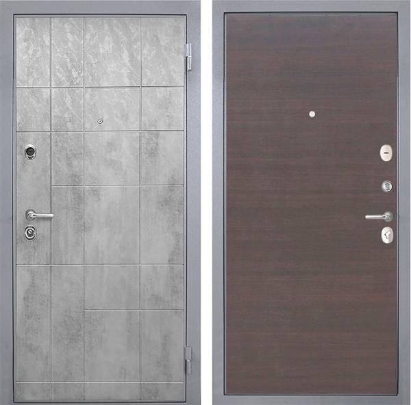 Входная металлическая дверь Интекрон Спарта Грей (Бетон темный / ЭкоВенге)