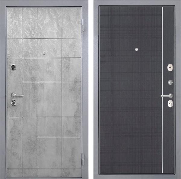 Входная металлическая дверь Интекрон Спарта Грей L-6 (Бетон темный / Венге)