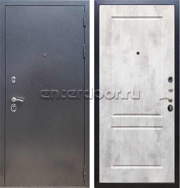Входная стальная дверь Армада 11 ФЛ-117 (Антик серебро / Бетон светлый)