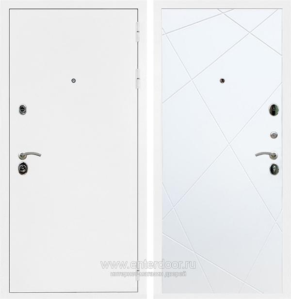 Входная металлическая дверь Сенатор Практик 3К ФЛ-291 (Белая шагрень / Белый матовый)