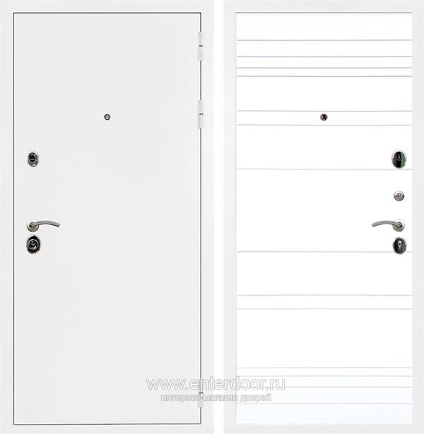Входная металлическая дверь Сенатор Практик 3К ФЛ-294 (Белая шагрень / Белый матовый)