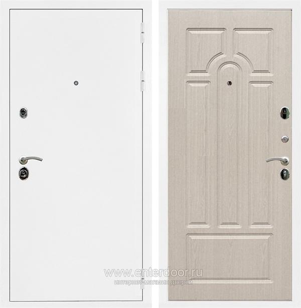 Входная металлическая дверь Сенатор Практик 3К ФЛ-58 (Белая шагрень / Дуб белёный)
