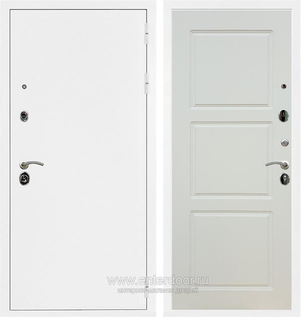 Входная металлическая дверь Сенатор Практик 3К ФЛ-3 (Белая шагрень / Слоновая кость)
