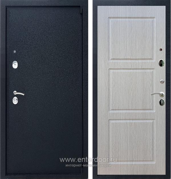 Входная металлическая дверь Армада 3 ФЛ-3 (Черный крокодил / Дуб беленый)