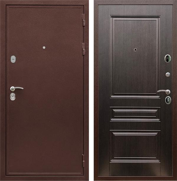 Входная металлическая дверь Сенатор Практик 3К ФЛ-243 (Медный антик / Венге)