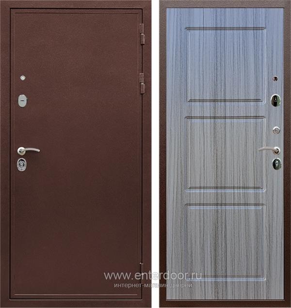 Входная металлическая дверь Сенатор Практик 3К ФЛ-3 (Медный антик / Сандал серый)