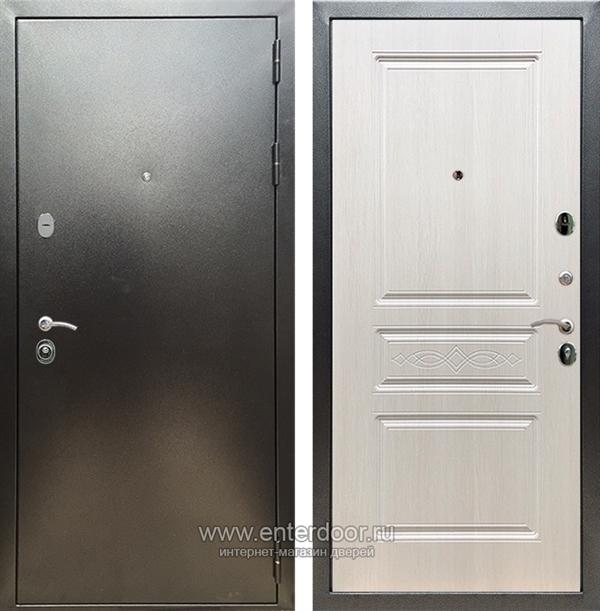 Входная металлическая дверь Сенатор Практик 3К ФЛ-243 (Антик серебро / Лиственница беж)