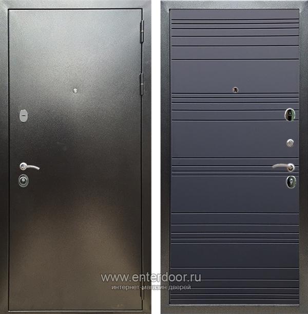 Входная металлическая дверь Сенатор Практик 3К ФЛ-294 (Антик серебро / Графит софт)