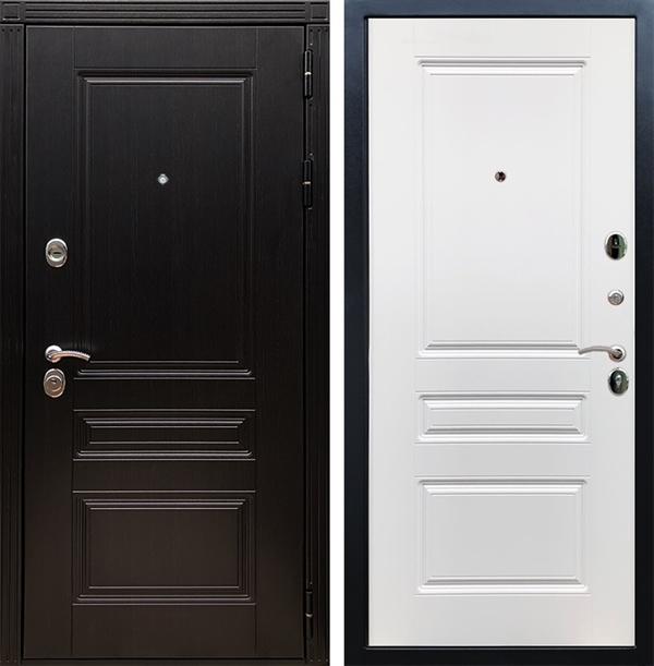 Входная металлическая дверь Армада 17 Мегаполис ФЛ-243 (Венге / Белый матовый)