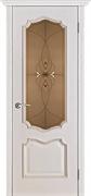 Белорусские двери Премьера белая патина