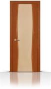 Межкомнатная дверь Жемчуг со стеклом (Темный анегри, Шпон)