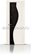 Межкомнатная дверь Корунд со стеклом (Ясень белый, Шпон)