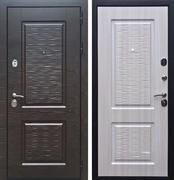 Входная металлическая дверь Лайн-2 (Венге поперечный / Сандал белый)