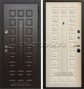 Входная стальная дверь Премиум 3К (Венге / Дуб беленый)