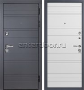 Входная металлическая дверь Персона ТехноЛюкс (Графит софт / Белый софт)