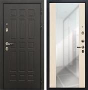 Входная дверь Лекс 8 Сенатор Стиль с зеркалом (Венге / Дуб белёный)