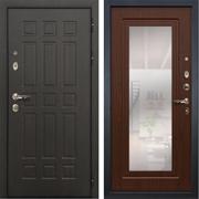 Входная металлическая дверь Лекс 8 Сенатор с зеркалом (Венге / Береза мореная)
