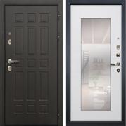 Входная дверь Лекс 8 Сенатор с зеркалом (Венге / Ясень белый)