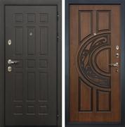Входная металлическая дверь Лекс 8 Сенатор (Голден патина черная 27)