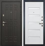 Входная металлическая дверь Лекс 8 Сенатор МДФ-16 Стекло (Ясень белый)
