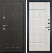 Входная металлическая дверь Лекс 8 Сенатор МДФ-12 Молдинг Сандал белый