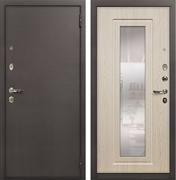 Входная стальная дверь Лекс 1А с Зеркалом (№23 Дуб беленый)