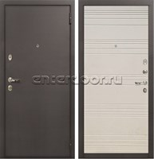 Входная металлическая дверь Лекс 1А ФЛ-63 (Дуб фактурный кремовый)