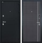 Входная металлическая дверь Интекрон Колизей L-6 (Чёрный шелк / Венге)