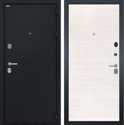 Входная металлическая дверь Интекрон Колизей (Чёрный шелк / Дуб Сильвер)