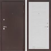 Входная металлическая дверь Лабиринт Классик 6 (Антик медный / Белое дерево)