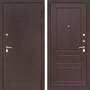Входная металлическая дверь Лабиринт Классик 3 (Антик медный / Орех премиум)