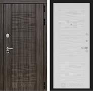 Входная металлическая дверь Лабиринт Сканди 6 (Дарк Грей / Белое дерево)