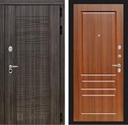 Входная металлическая дверь Лабиринт Сканди 3 (Дарк Грей / Орех бренди)