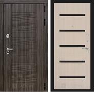 Входная металлическая дверь Лабиринт Сканди 1 (Дарк Грей / Дуб беленый)