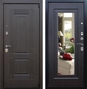Входная металлическая дверь АСД Викинг с зеркалом (Венге / Венге)