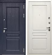 Входная металлическая дверь Дива МД-45 (Роял вуд Синий / Белый матовый)