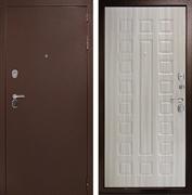 Входная металлическая дверь Континент Гарант-1 3К (Медный антик / Сандал белый)