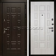 Входная металлическая дверь Дива МД-38 (Венге / Дуб Филадельфия крем)