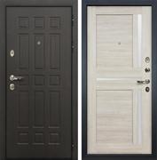 Входная металлическая дверь Лекс 8 Сенатор Экошпон Баджио Ясень кремовый