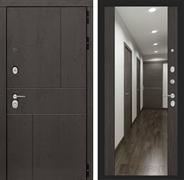 Входная дверь Лабиринт Урбан с Зеркалом Максимум (Дуб горький шоколад / Венге)