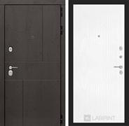 Входная металлическая дверь Лабиринт Урбан 7 (Дуб горький шоколад / Белое дерево)
