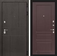 Входная металлическая дверь Лабиринт Урбан 3 (Дуб горький шоколад / Орех премиум)