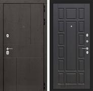 Входная металлическая дверь Лабиринт Урбан 12 (Дуб горький шоколад / Венге)