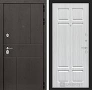 Входная металлическая дверь Лабиринт Урбан 8 (Дуб горький шоколад / Кристалл вуд)
