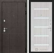 Входная металлическая дверь Лабиринт Урбан 1 (Дуб горький шоколад / Сандал белый)