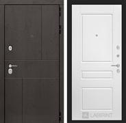 Входная металлическая дверь Лабиринт Урбан 3 (Дуб горький шоколад / Белый софт)